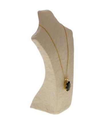 Buste porte collier en papier mâché 28cm