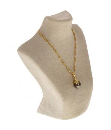 Buste porte collier en papier mâché 20 cm