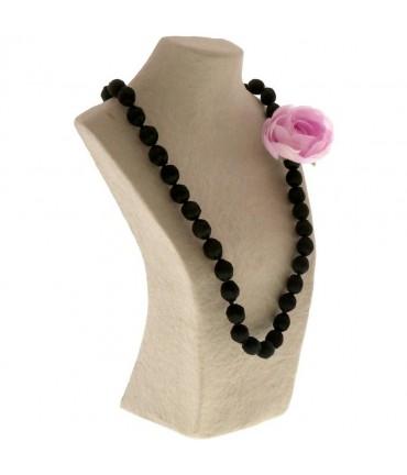 Buste porte collier long sautoir papier maché 36 cm