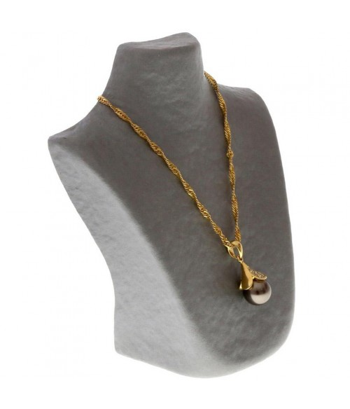 Buste porte collier en papier mâché 16 cm