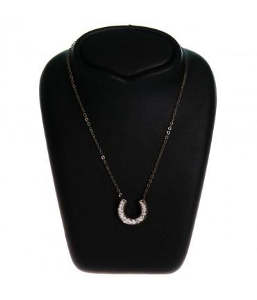Buste presentoir collier étroit H 12 cm - Noir