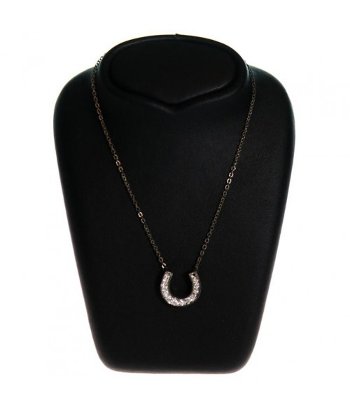 Buste presentoir collier étroit H 12 cm