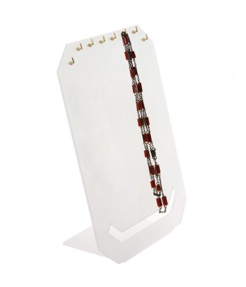 Presentoir pour colliers et chaines Plaque Verticale 8 crochets
