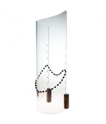 Presentoir collier Colonne en acrylique H 38 cm - Transparent