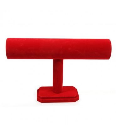 Support jonc bracelets 1 rang en velours qualité supérieure - Rouge