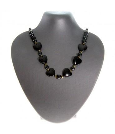 Buste porte collier simili cuir H 14 cm