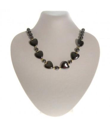 Buste porte collier simili cuir H 14 cm - Beige