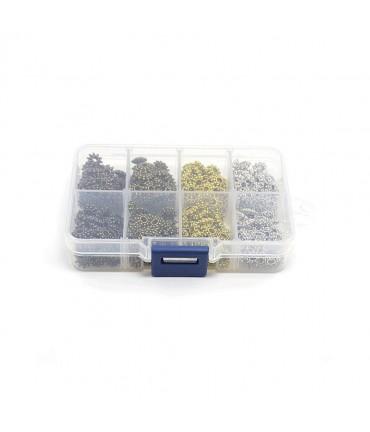 Boite perles fantaisie intercalaires 4 couleurs ( 400 pièces ) - Assortiment