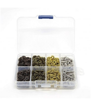 Boite perles fantaisie intercalaires 4 couleurs ( 400 pièces )