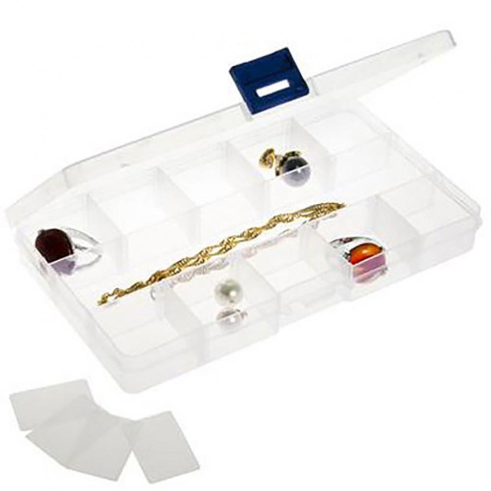 boite de rangement plastique pour accessoires bijoux l 175 x p 100 x h 22. Black Bedroom Furniture Sets. Home Design Ideas