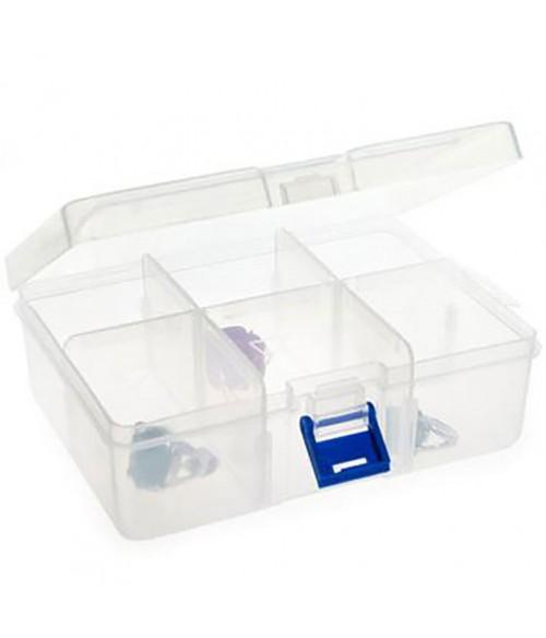 Boite de rangement plastique 17x12 cm (6 compartiments)