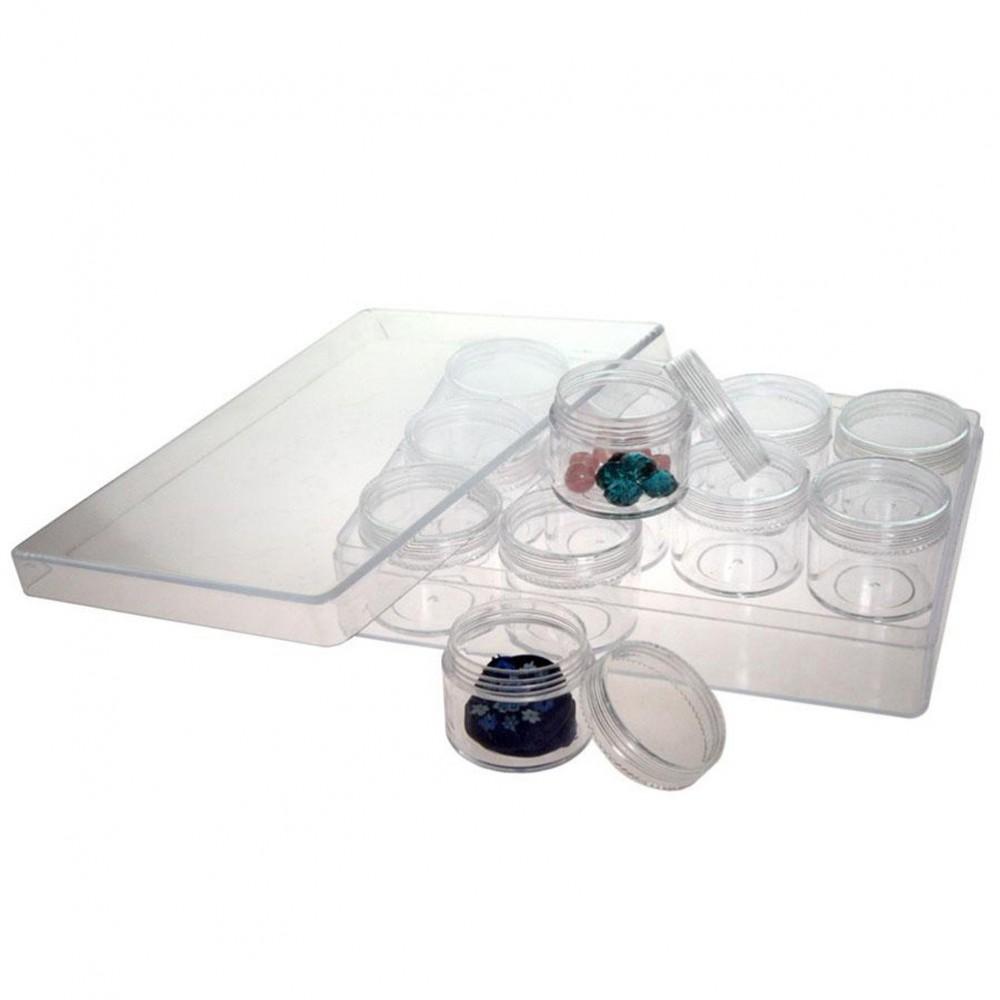 boite de rangement plastique pour perles et pierres l 163 x p 122 x h 34. Black Bedroom Furniture Sets. Home Design Ideas
