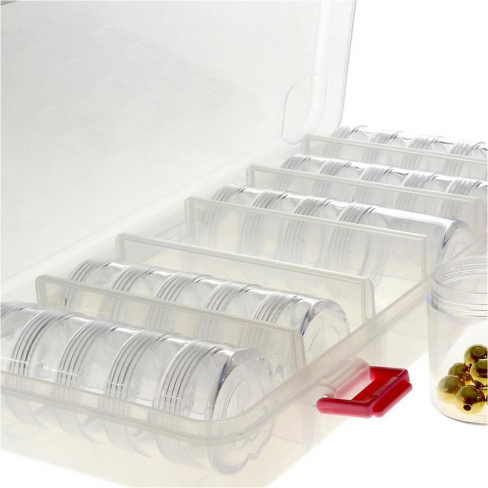 Boite plastique tours de rangement pour pierres et appr ts l 270 x l 120 x h 45 - Rangement pour vis et clous ...