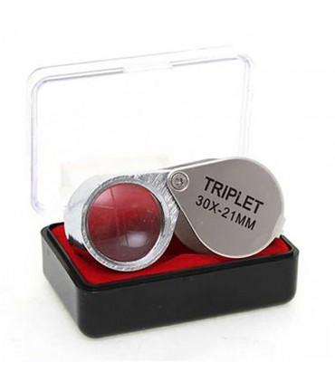 Loupe de bijoutier x30 grossissement 21 mm - Gris
