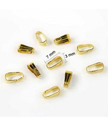 Attache pendentif bélière 7 x 3 mm accessoires bijoux (100 pièces)