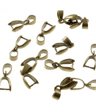 Bélière attache pendentif 15 x 6 mm (50 pièces) - Bronze