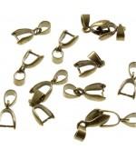 Bélière attache pendentif 15 x 6 mm (50 pièces)