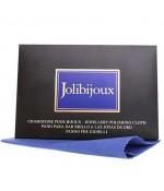 Chamoisine de nettoyage bijoux or Jolibijoux - Bleu