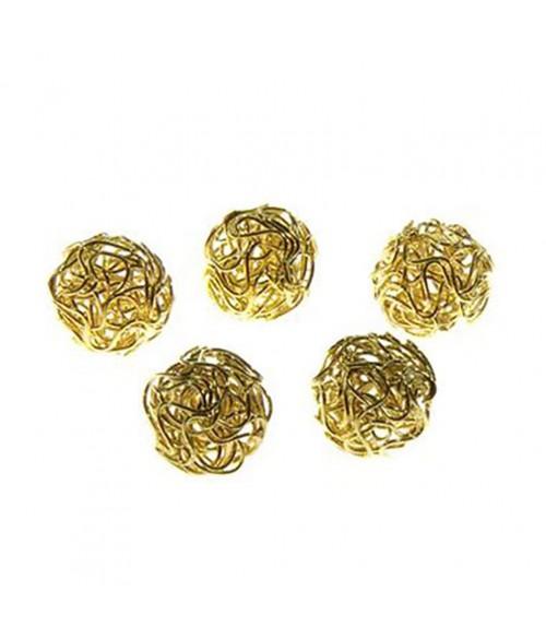 Perles rondes 18 mm fabrication bijoux (5 pièces)