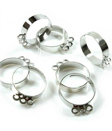Supports à bagues réglables pour création bijoux (10 pièces)
