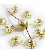 Calottes coupelles fleurs 4 pétales pour perles (10 pièces) - Doré