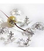 Calottes coupelles fleurs pour perles (10 pièces)