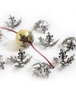 Calottes coupelles fleurs pour perles (10 pièces) - Anthracite