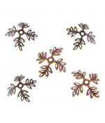 Calottes coupelles fleurs 4 pétales pour perles (10 pièces) - Cuivre