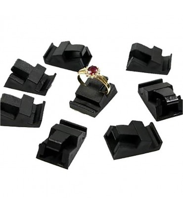 Supports bagues noirs pour cubes d'etiquette prix (10 pièces)