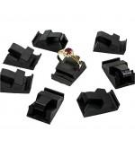 Supports bagues noirs pour cubes d'etiquette prix (10 pièces) - Noir
