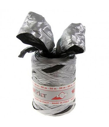 Bolduc raphia emballage cadeau bicolore (200 mètres) - Noir