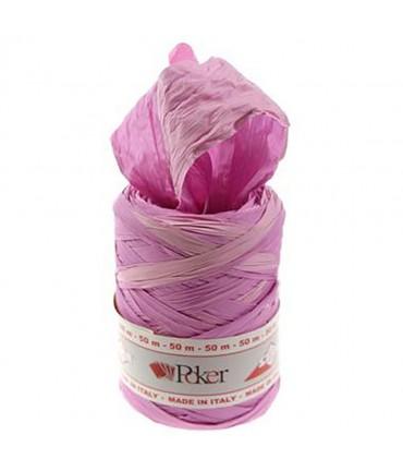 Bolduc raphia emballage cadeau bicolore (200 mètres) - Rose