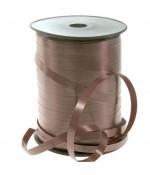 Bolduc 7 mm ruban papier cadeau uni (500 mètres) - Marron