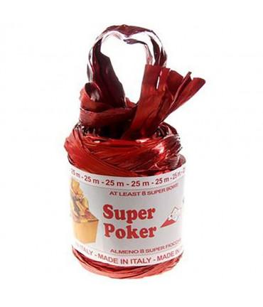 Bolduc raphia emballage cadeau brillant uni (25 mètres) - Rouge