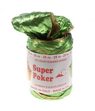 Bolduc raphia emballage cadeau brillant bicolore (25 mètres) - Vert