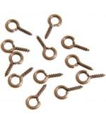 Piton à vis pour création bijoux 8 mm (100 pièces) - Cuivre