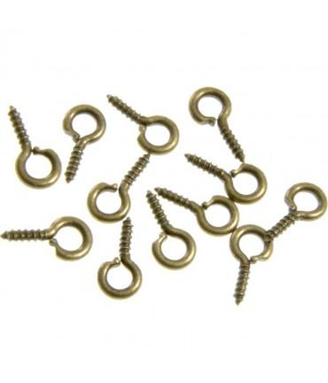 Piton à vis pour création bijoux 8 mm (100 pièces) - Bronze
