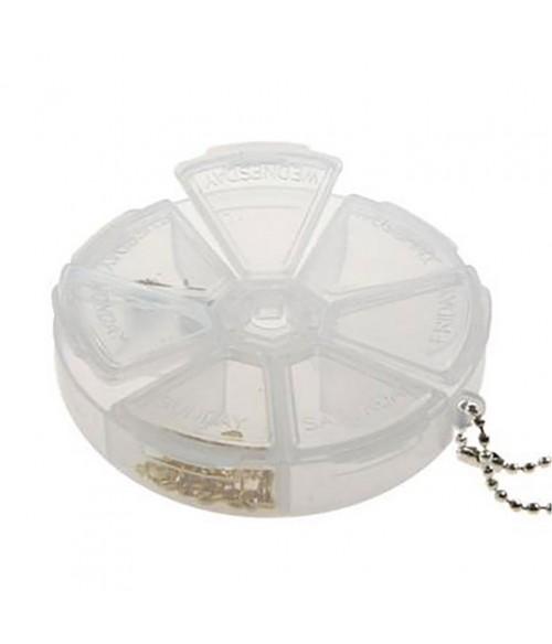 Boite de rangement plastique ronde 7 compartiments