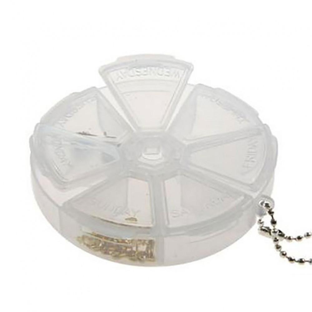 boite de rangement perles et appr ts ronde 7 compartiments. Black Bedroom Furniture Sets. Home Design Ideas
