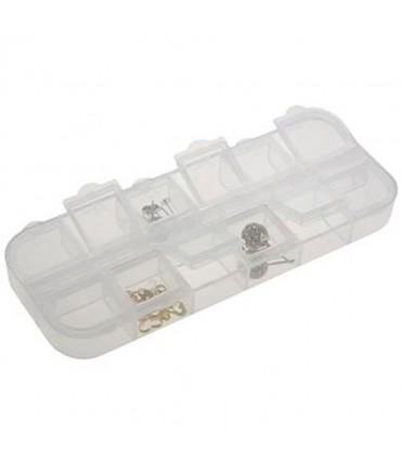 Boite de rangement à 12 compartiments pour perles et apprets - Translucide
