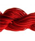 Fil nylon 1 mm pour bracelet shamballa écheveau de 24 mètres - Rouge
