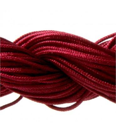 Fil nylon 1 mm pour bracelet shamballa écheveau de 24 mètres - Bordeaux