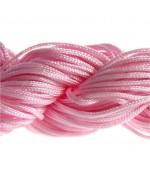 Fil nylon 1 mm pour bracelet shamballa écheveau de 24 mètres - Rose