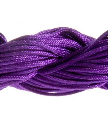 Fil nylon 1 mm pour bracelet shamballa écheveau de 24 mètres - Violet