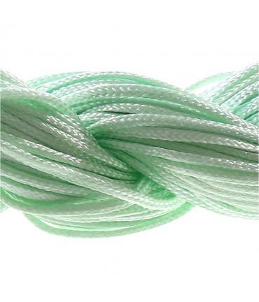 Fil nylon 1 mm pour bracelet shamballa écheveau de 24 mètres - Vert clair