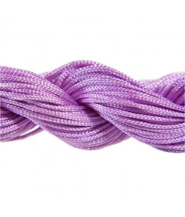 Fil nylon 1 mm pour bracelet shamballa écheveau de 24 mètres - Violet glycine
