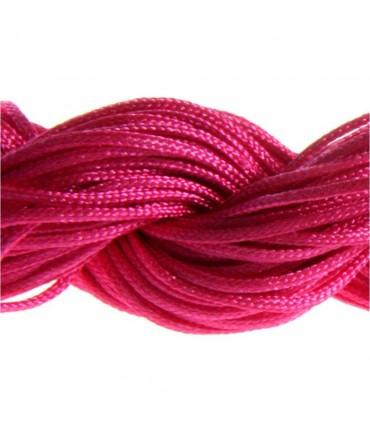 Fil nylon 1 mm pour bracelet shamballa écheveau de 24 mètres - Rose vif