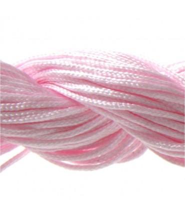 Fil nylon 1 mm pour bracelet shamballa écheveau de 24 mètres - Rose clair