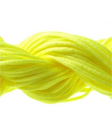 Fil nylon 1 mm pour bracelet shamballa écheveau de 24 mètres - Jaune fluo
