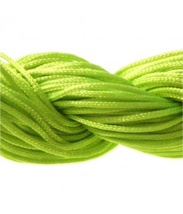 Fil nylon 1 mm pour bracelet shamballa écheveau de 24 mètres - Anis